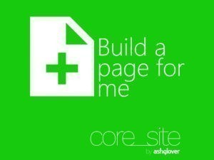 core_site Build a page for me